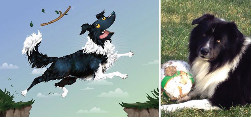 dibujos retratos mascotas 6