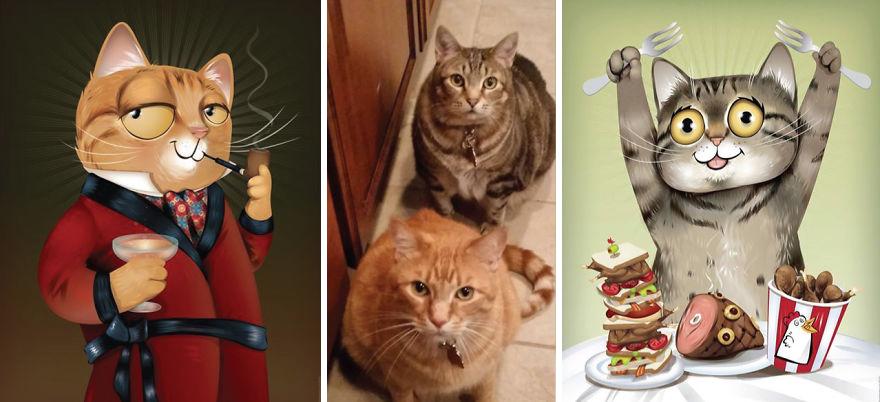 dibujos retratos mascotas 7