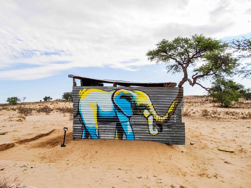 esperanzadores grafitis de elefantes 2