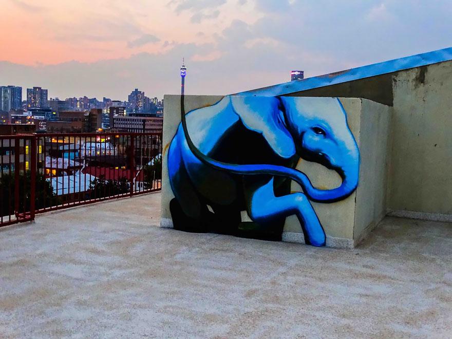 esperanzadores grafitis de elefantes 5