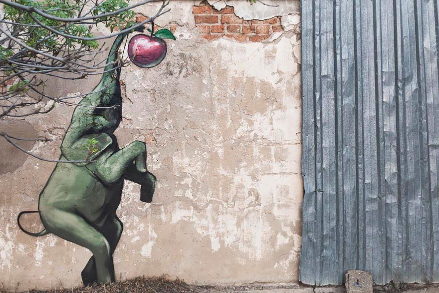 esperanzadores grafitis de elefantes 7