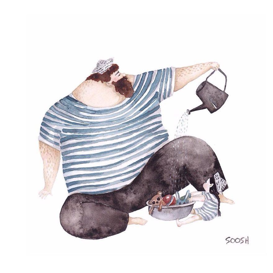 ilustraciones amor padres hijas 12