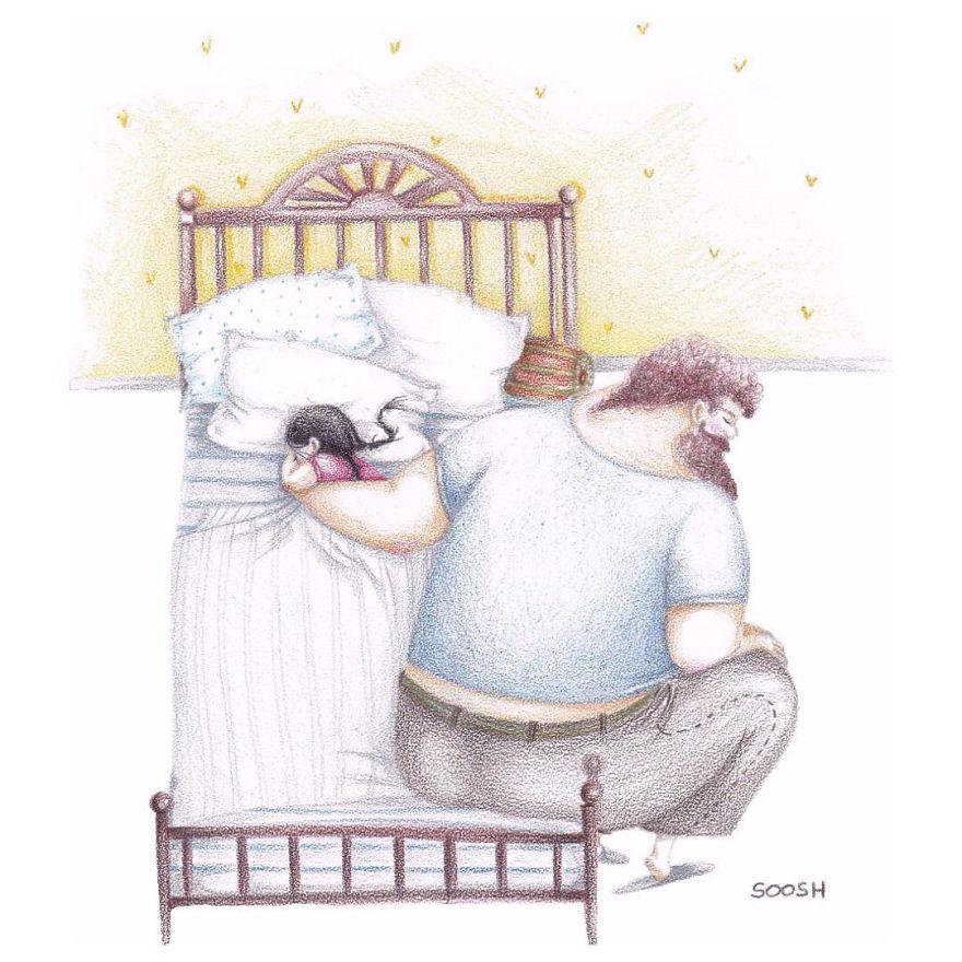 ilustraciones amor padres hijas 14