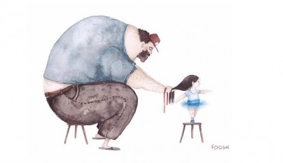ilustraciones amor padres hijas 2
