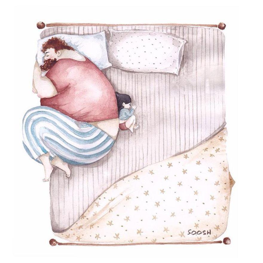 ilustraciones amor padres hijas 5