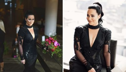 vestidos de boda negros 1