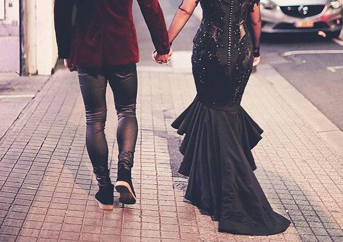 34e1053c7 Vestido de boda negro - Donvago.com