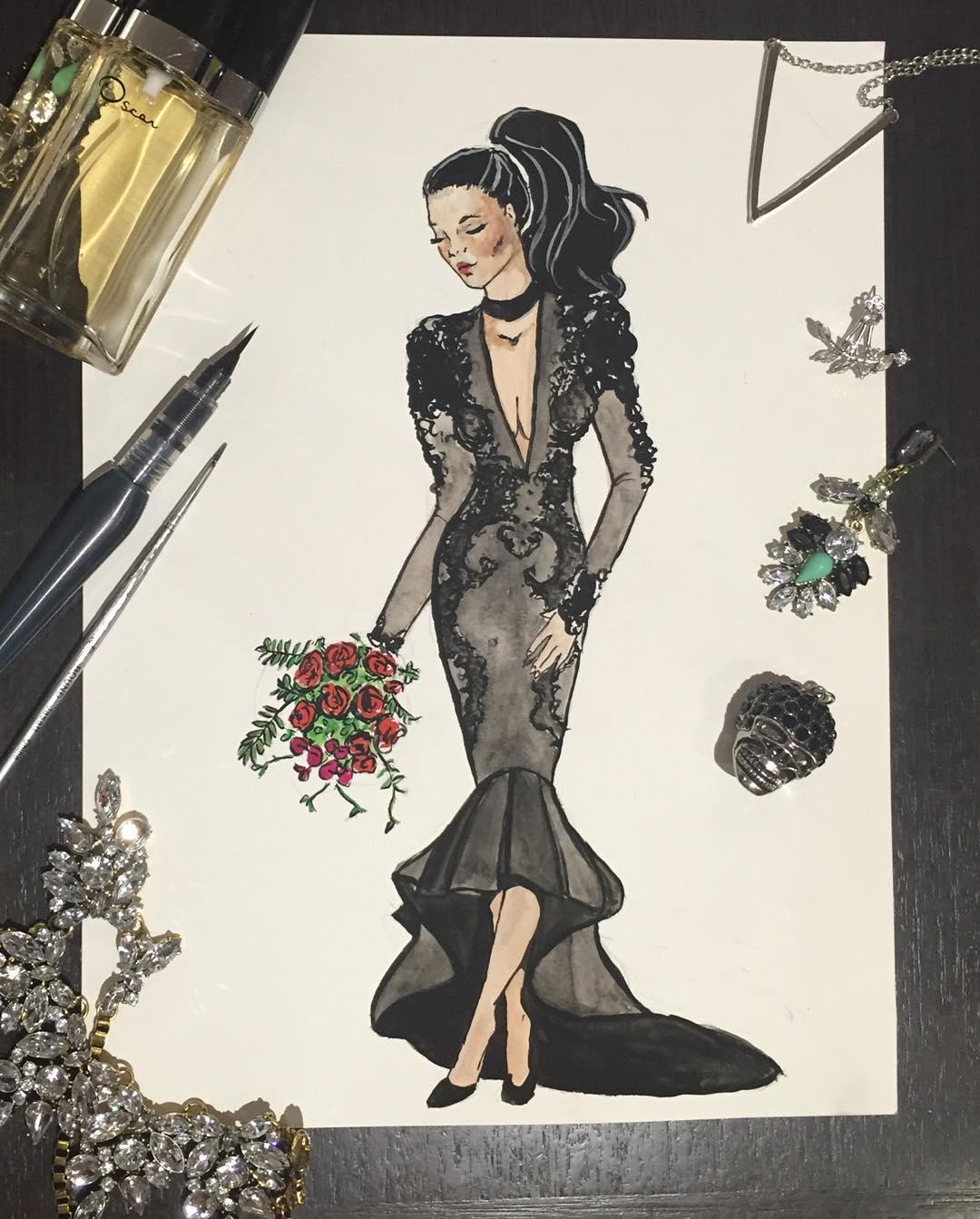 vestidos de boda negros 12