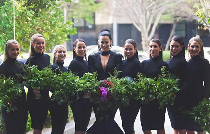 vestidos de boda negros 2