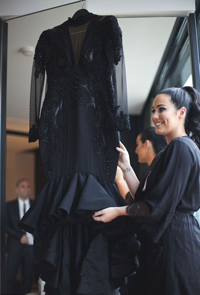 vestidos de boda negros 6