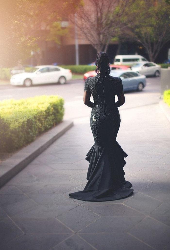 vestidos de boda negros 8
