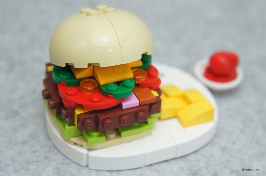 comida piezas LEGO 10