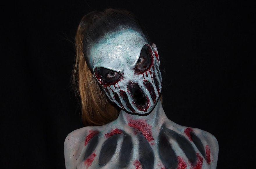maquillaje aterrador 15