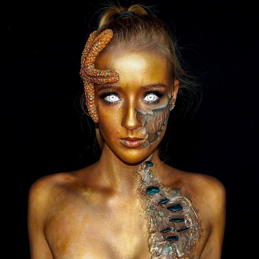 maquillaje aterrador 2