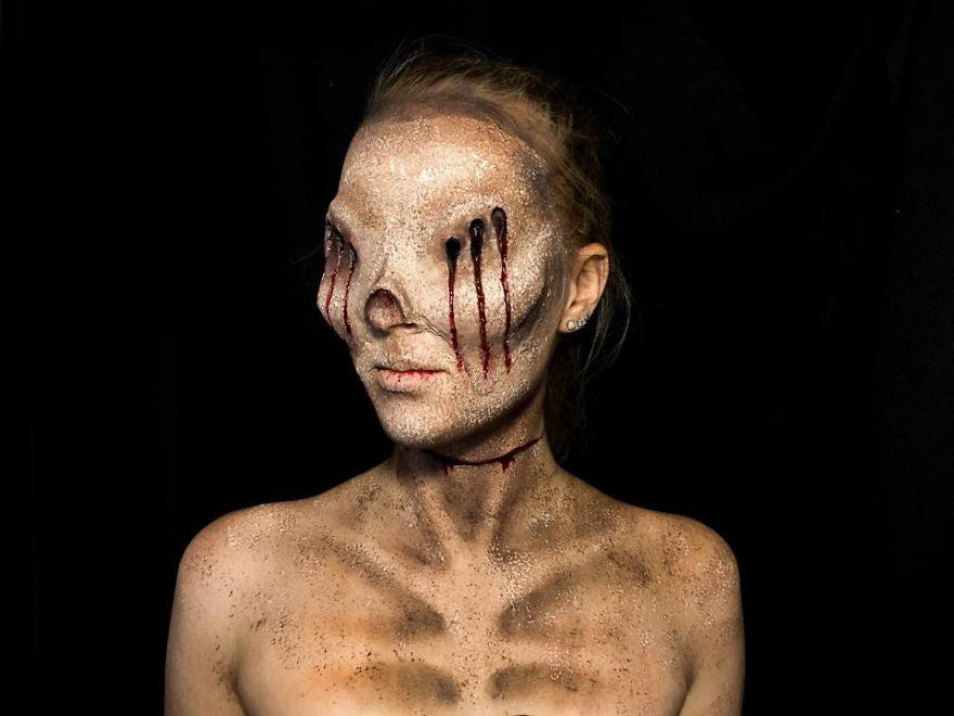 maquillaje aterrador 7