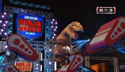 T-Rex en Ninja Warrior