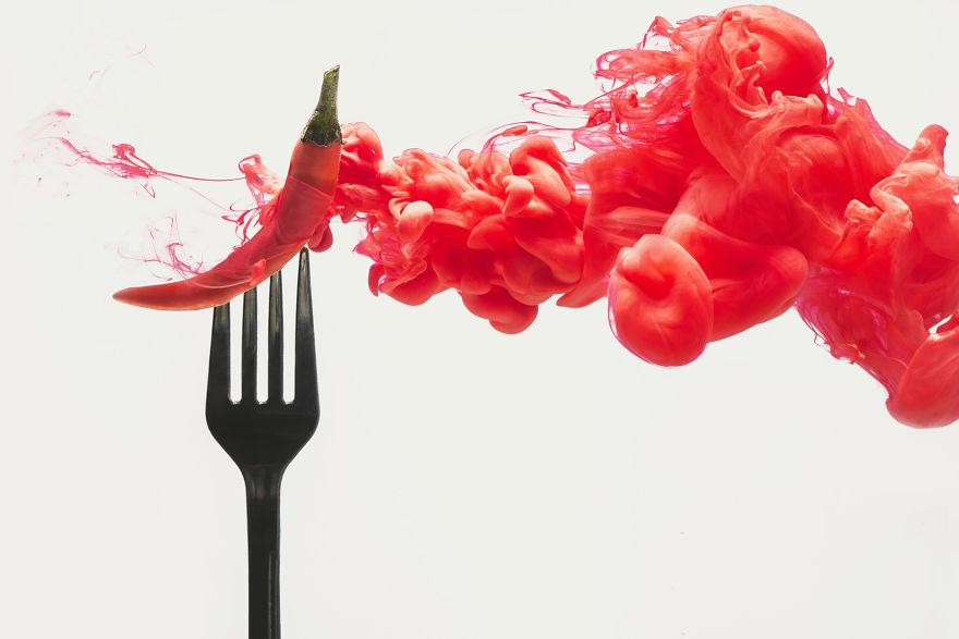 alimentos disolviendose colores 1