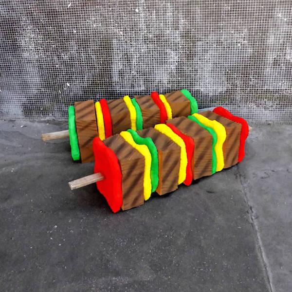 colchones esculturas comida 3