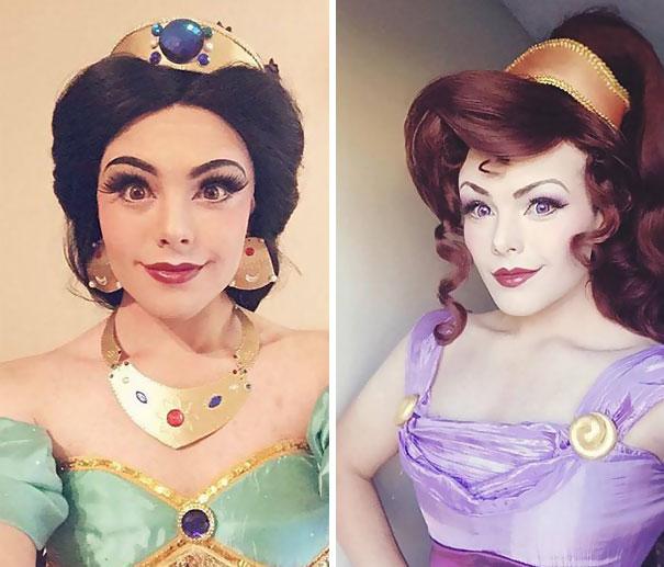 hombre maquillado princesas Disney 3