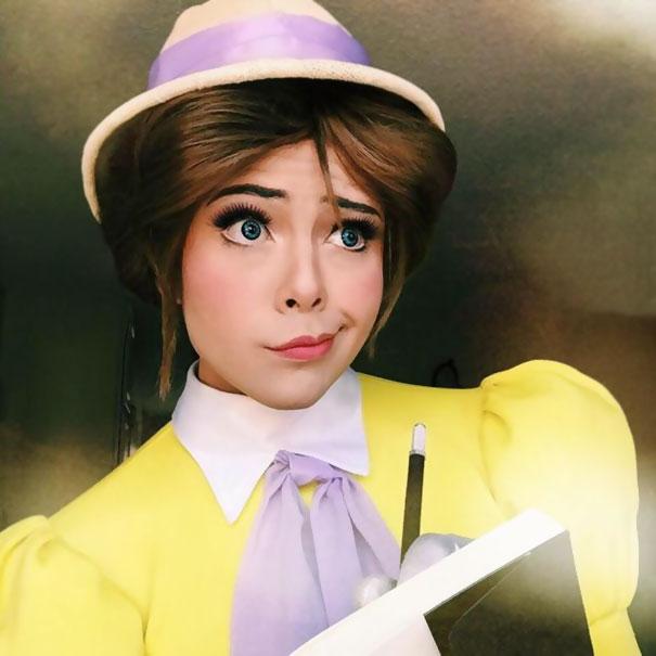 hombre maquillado princesas Disney 8