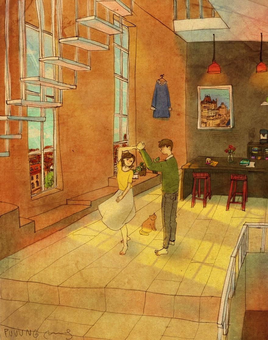 ilustraciones momentos amorosos 1