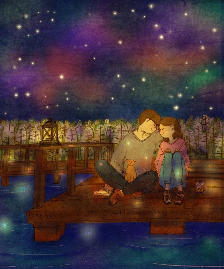 ilustraciones momentos amorosos 12