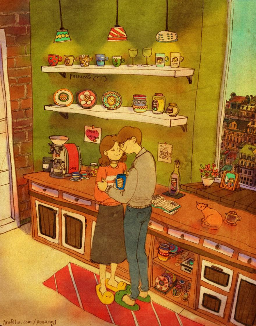 ilustraciones momentos amorosos 13