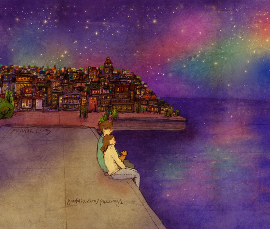 ilustraciones momentos amorosos 15
