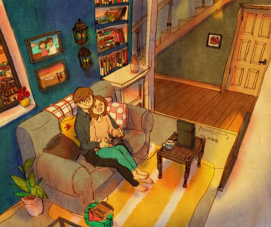 ilustraciones momentos amorosos 16