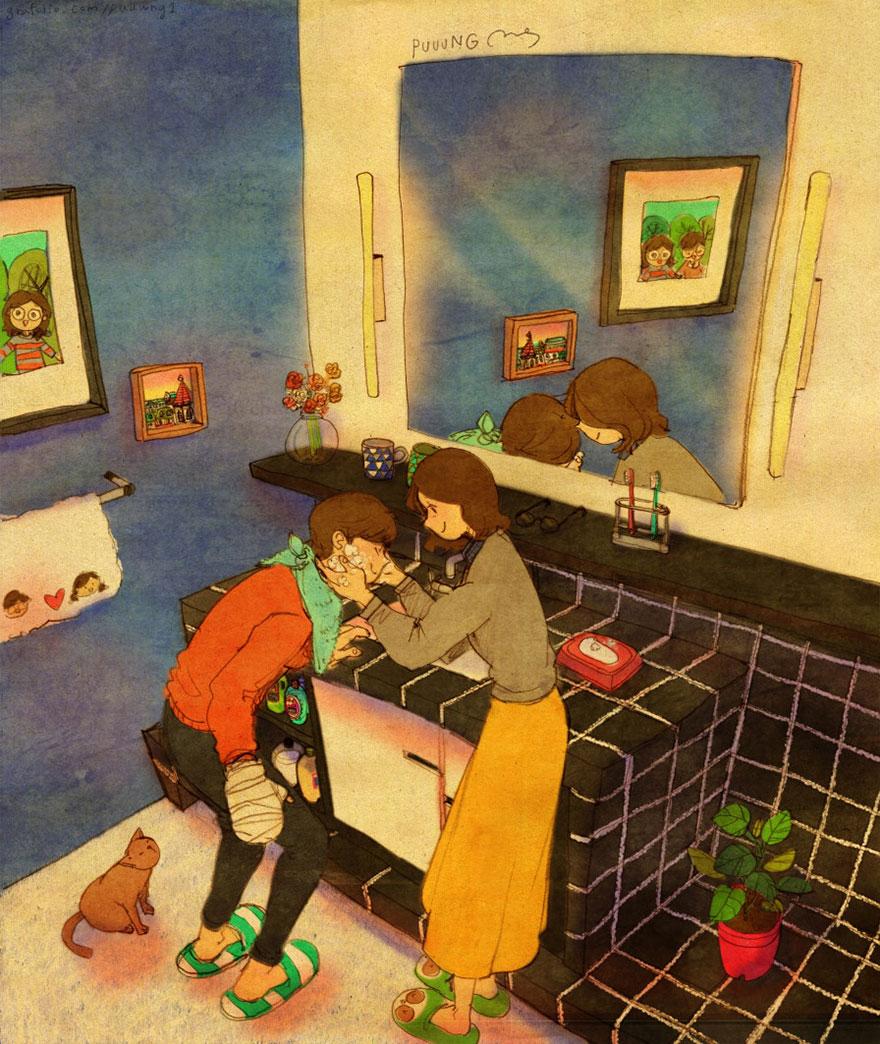ilustraciones momentos amorosos 18