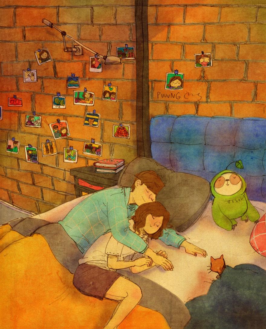 ilustraciones momentos amorosos 3