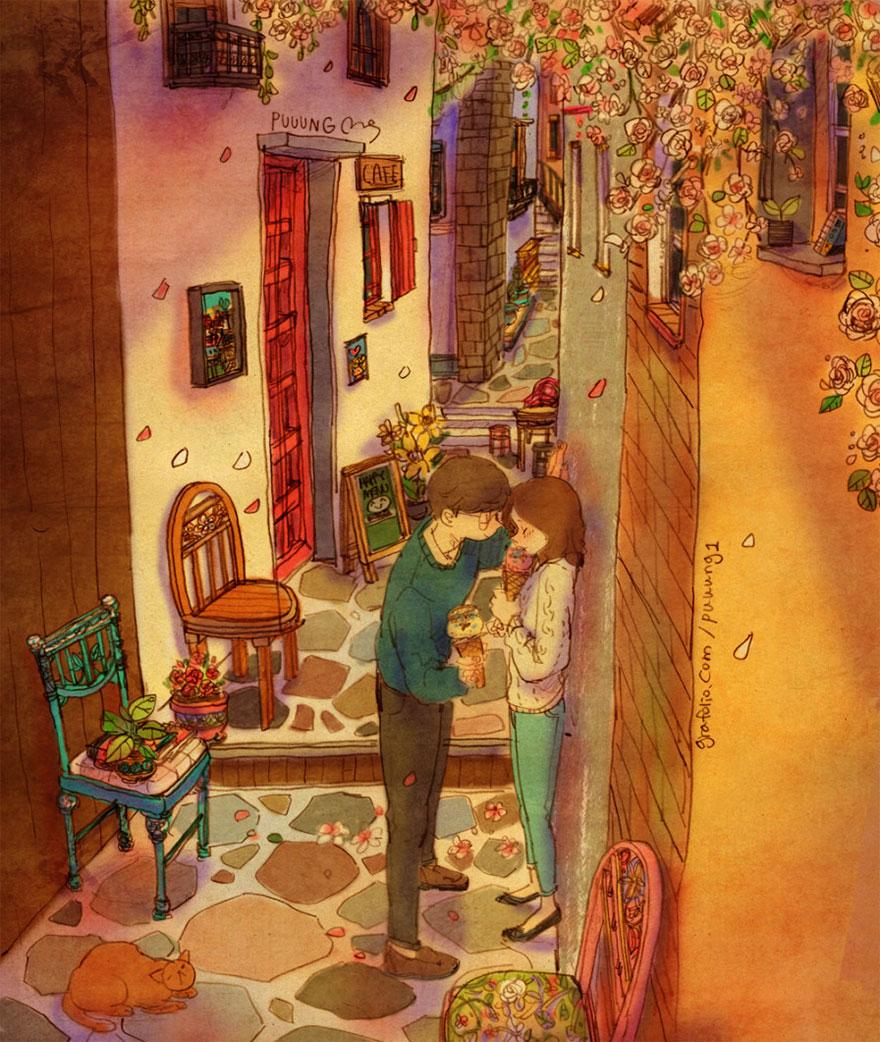 ilustraciones momentos amorosos 5