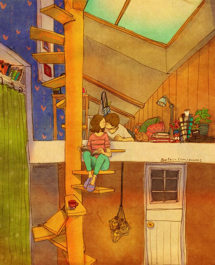 ilustraciones momentos amorosos 8