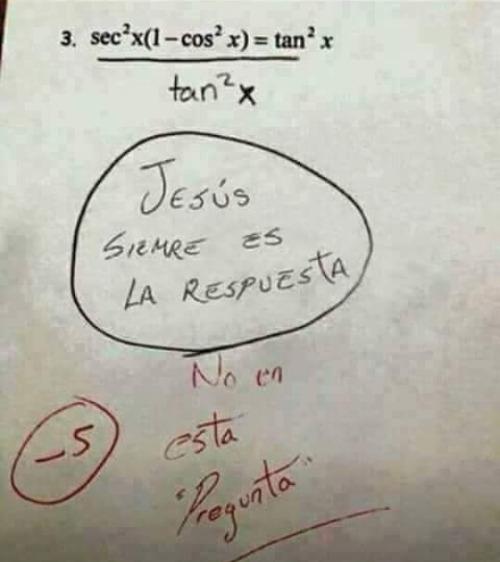 jesus siempre es la respuesta