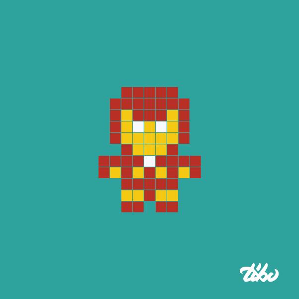 mini heroes pixelados 16