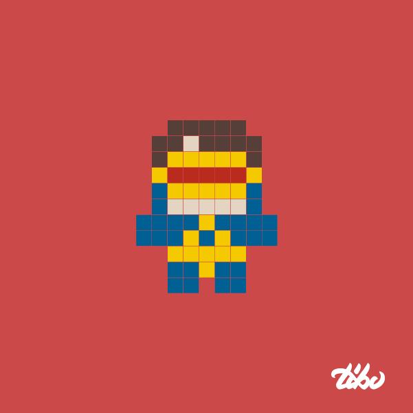 mini heroes pixelados 8
