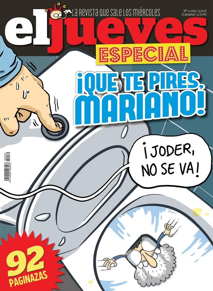portada de el jueves dedicada a Rajoy