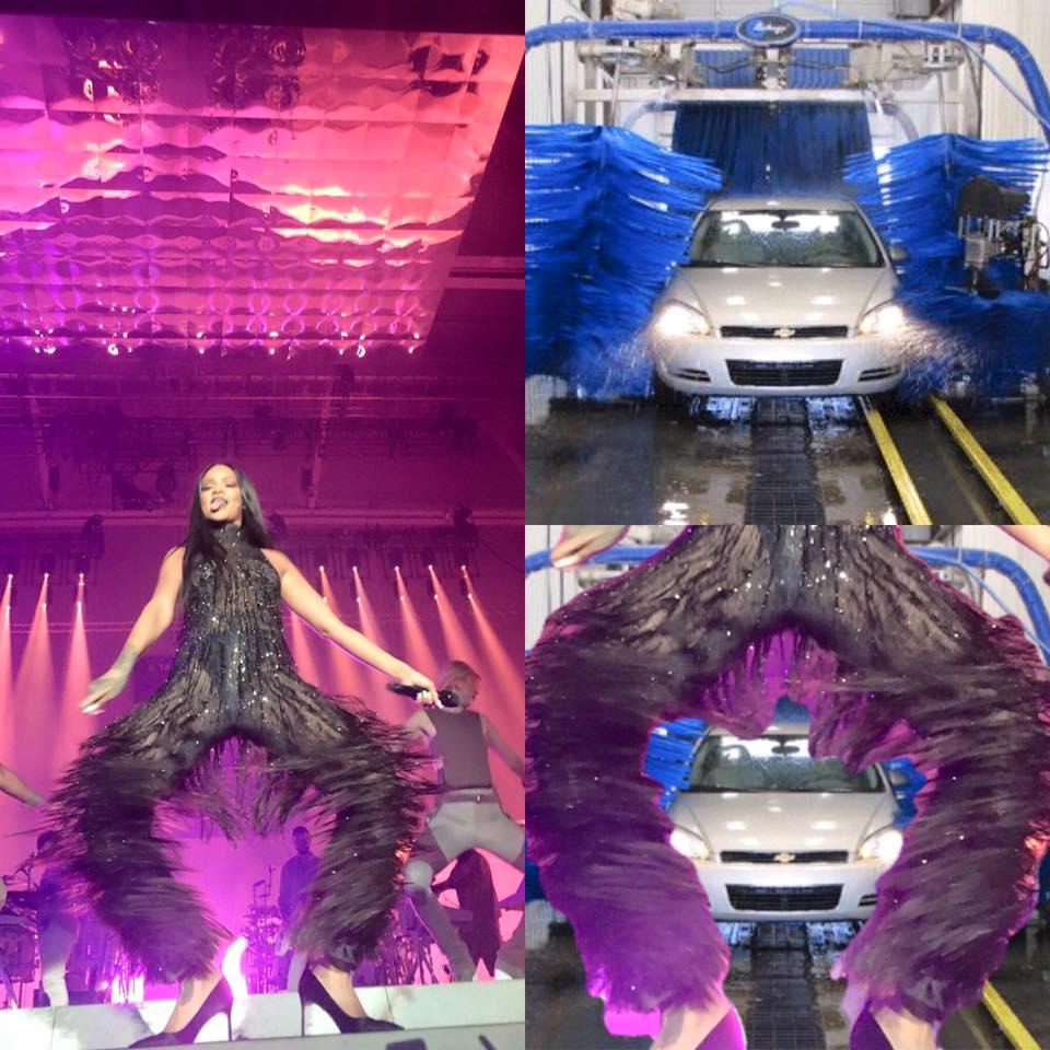 Rihanna tunel de lavado
