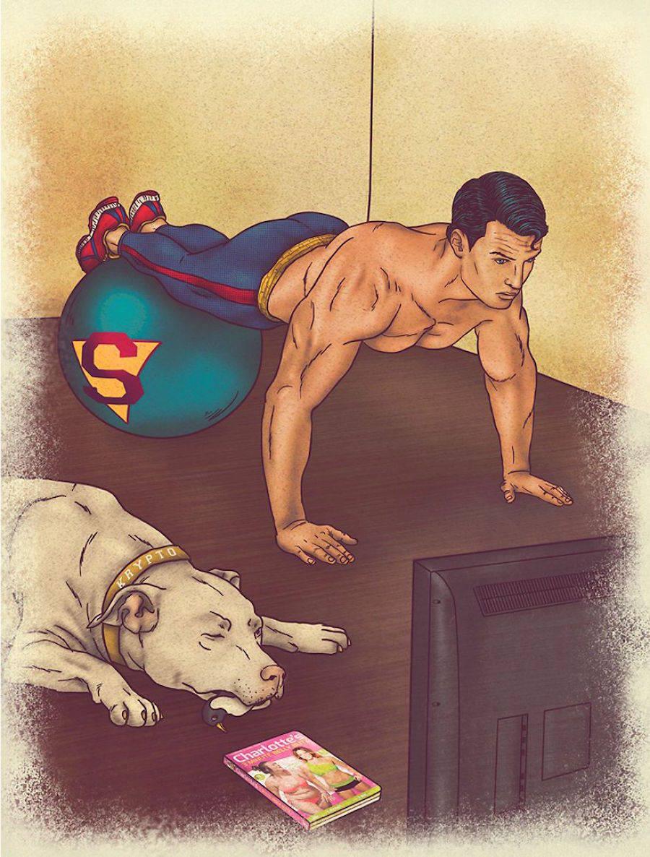 dibujos dia a dia superheroes 12
