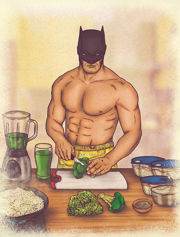 dibujos dia a dia superheroes 2