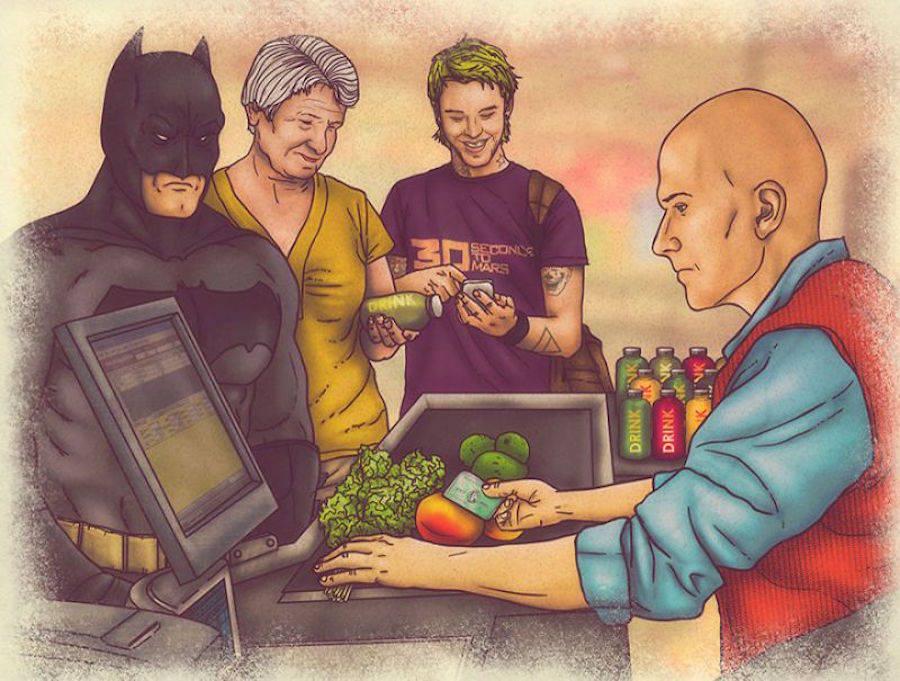 dibujos dia a dia superheroes 4