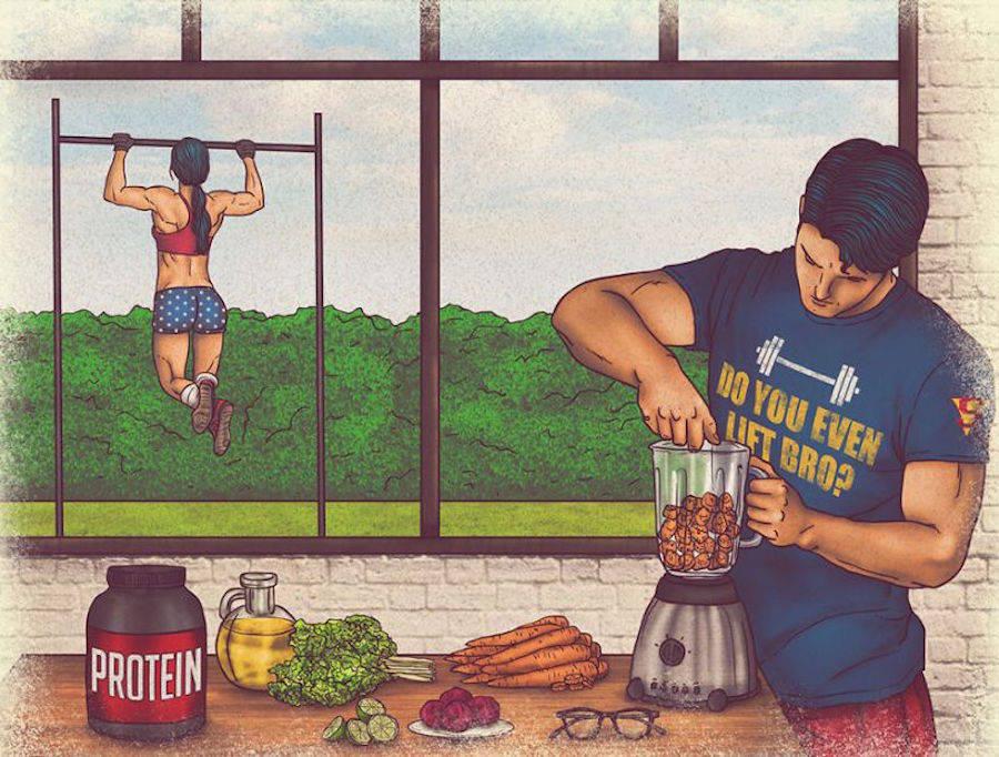 dibujos dia a dia superheroes 7