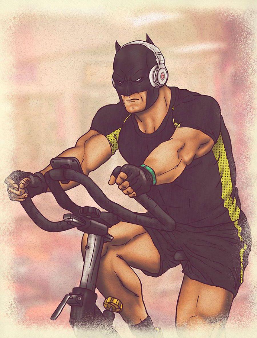 dibujos dia a dia superheroes 8