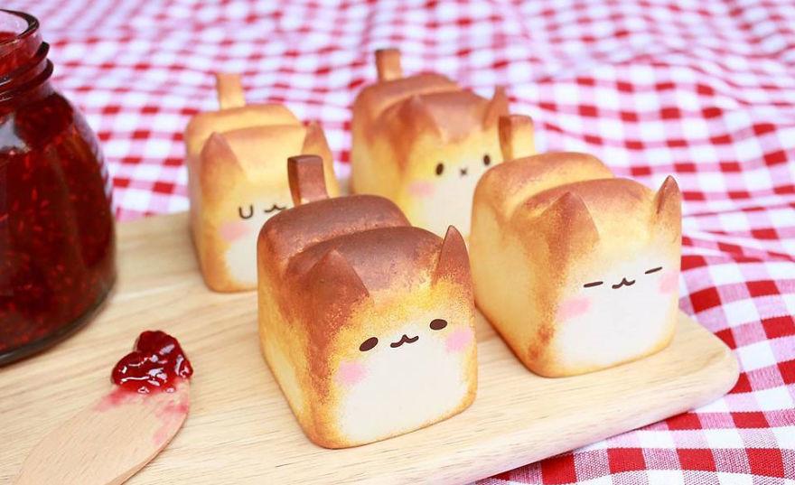 pan con forma de gato rechoncho 1