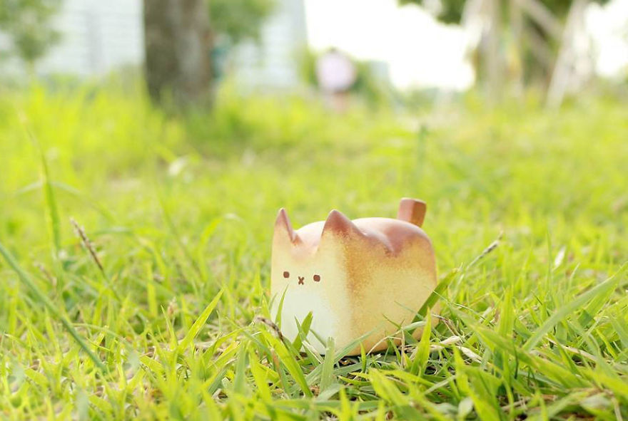 pan con forma de gato rechoncho 2