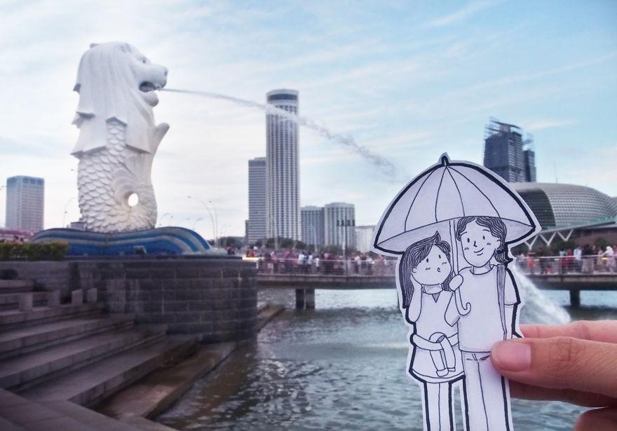 recreando viajes con dibujos 11