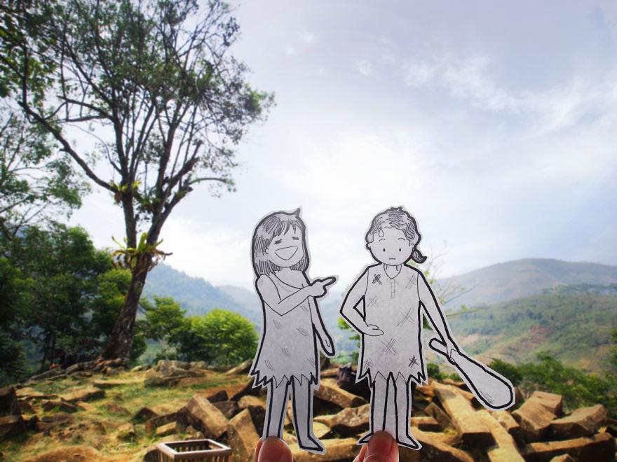 recreando viajes con dibujos 14