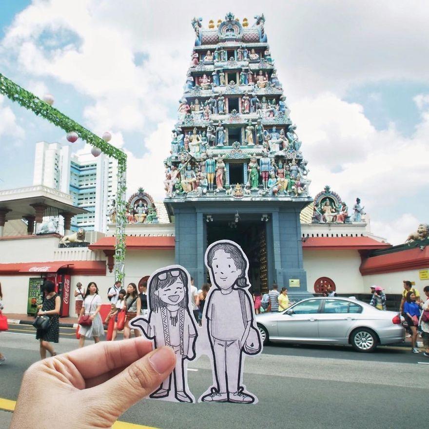 recreando viajes con dibujos 18