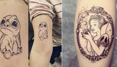 tatuaje minimalista Disney 1