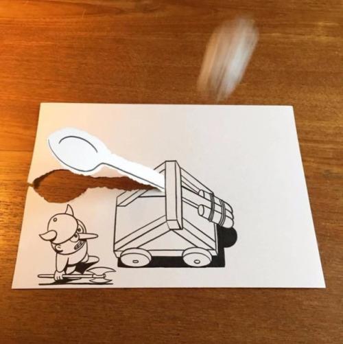 ilustraciones-interactuan-con-el-papel-11
